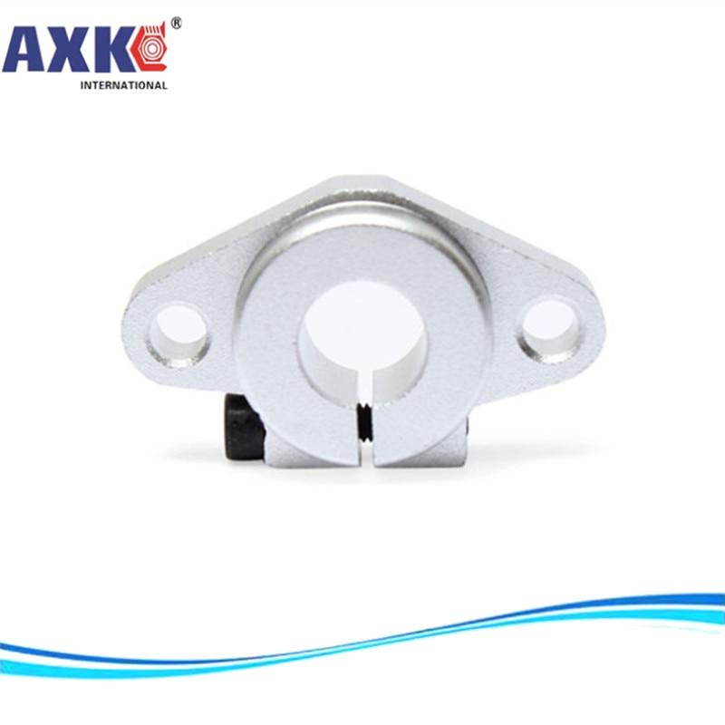 AXK SHF8 SHF10 SHF12 SHF16 bearing shaft support for 8mm 10mm 12mm 16mm rod round shaft support diy XYZ Table CNC  3D Printer