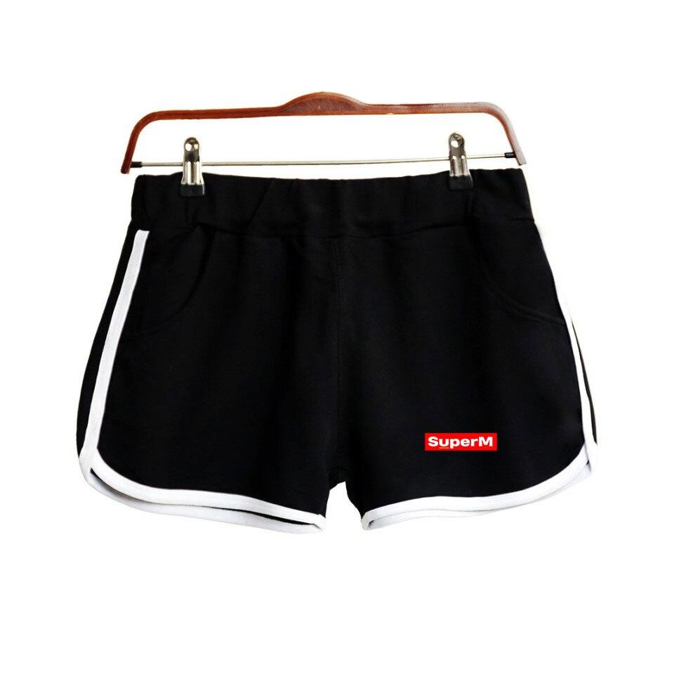 SuperM Print Popular Hip Hop Summer Shorts Fashion Hipster Shorts Casual Street Hipster Basic Summer SuperM Kpop Shorts