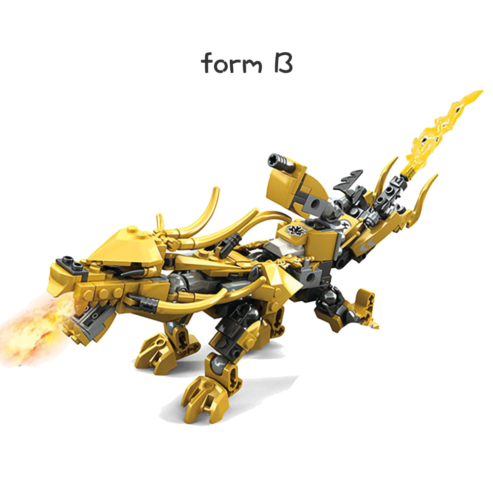 Image 3 - Compatible Ninjagoed Ninja Golden Dragon Mech Creator Dragon 2 in 1 Set DIY Educational Gift Building Blocks Toys For ChildrenBlocks   -