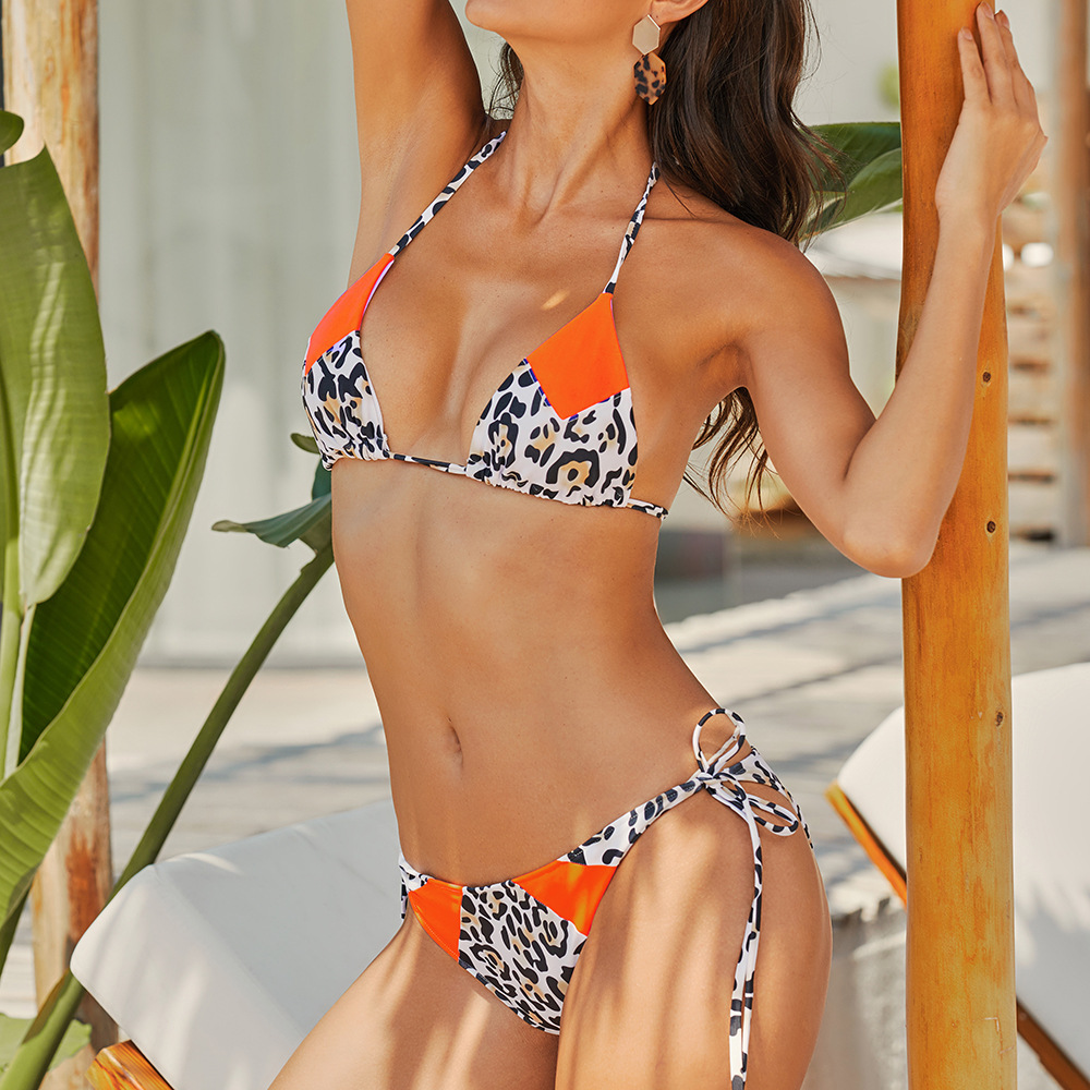 Halter Sexy Bikini Set Swimwear Women Bandage Swimsuit Push Up Biquini Feminino Bikinis 2020 Bathing Suit Female Beachwear 3