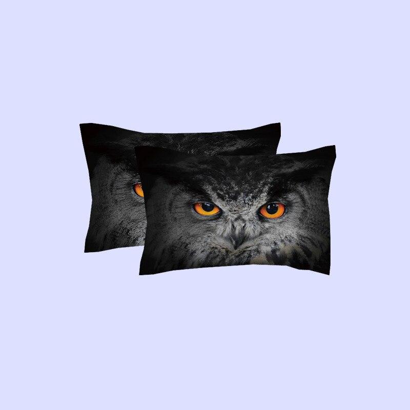 Tiere Eule gedruckt Bettbezug set mit Spiel Kissen shams Twin Voll Königin König größe Ultra Weiche Bettwäsche sets für kinder Jungen - 3