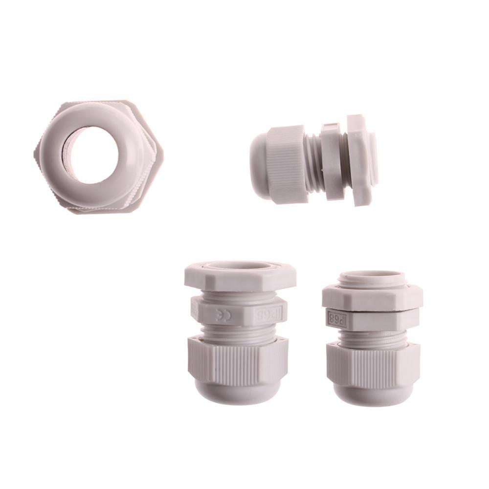 Screw 5 Pieces 10mm-14mm Diameter Cable Glands Plastic Fastener Joints Connectors PG16