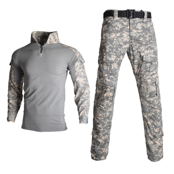 Men Military Uniform Camouflage Airsoft Army Combat Suit Waterproof Military Tactical Clothing with Knee Pads Jacket Cargo Pants
