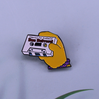 Songs to enrage cassette tape enamel pin great for those bus driver friends image