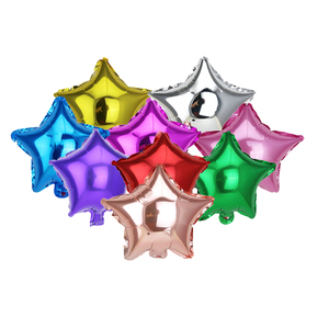 20 pieces of 10 inch five-pointed star foil balloon children birthday party holiday wedding decoration balloons