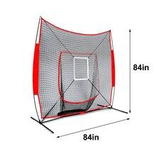 Portable 7*7 Feet Baseball Softball Practice Net Durable Rebound Training Baffle Net Children Baseball Exercise Sport Accessory