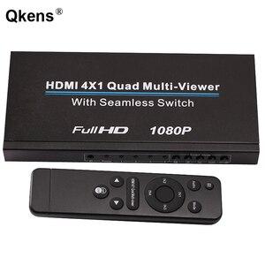 HDMI 4x1 Мультимедийный Коммутатор HDMI, 4-в-1 монитор, четырехъядерный мульти-просмотра 1080P HDMI видео конвертер, 4 экрана, бесшовный переключатель