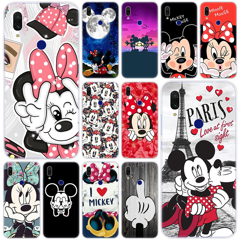 Hot Cute <font><b>Cartoon</b></font> Mickey Minnie Weiche Silikon Fall für <font><b>Xiaomi</b></font> Redmi K20 Pro 8 8A <font><b>7</b></font> 7A 6 6A 5 plus S2 Hinweis 8 <font><b>7</b></font> 6 5 Pro 4 4X Abdeckung image