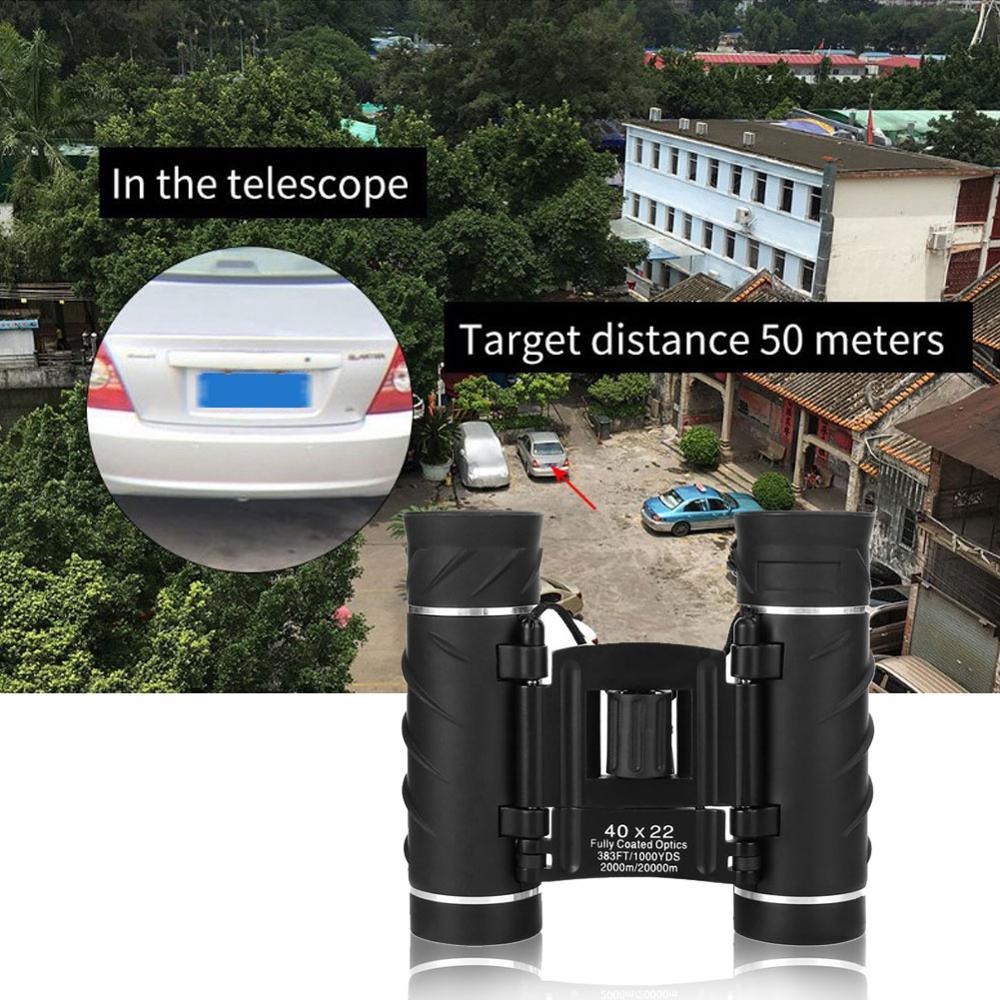 40x22 HD мощный бинокль 2000 м дальний диапазон складной мини телескоп BAK4 FMC оптика для охоты спорта активного отдыха кемпинга путешествий