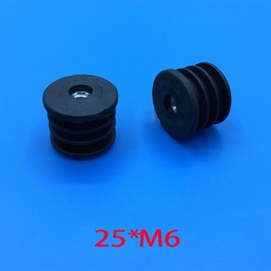 Image 4 - 19 25 32 50 mm round feet plug M6 m8 nut pre embedded blank tube insert end Furniture Levelling Glide caster screw Feet Screw On