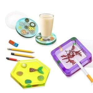 Image 4 - סיליקון תבניות עבור שרף אפוקסי שרף ליהוק אמנות תבניות עבור Diy כוס עט סבון נר מחזיק מאפרה עציץ רכבת תליון C