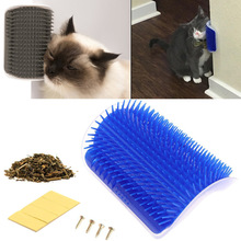 Corner Pet Brush Comb Play Cat Toy Plastic Scratch Bristles Arch Massager Self Grooming Scratchers