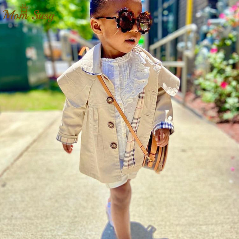 2020 Fashion Infant Baby Girls Boys Toddler Kids Jacket Trench Coat Spring Autumn Warm Children Dust Coat Dropshipping