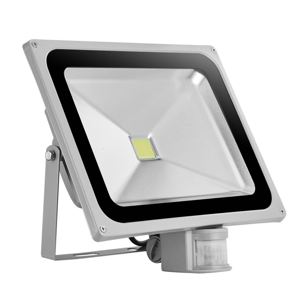 50W LED Flood Light AC 85-220V Cold White Lights 900LM IP65 Waterproof Night Lighting For Basketball / Football Fields Gardens