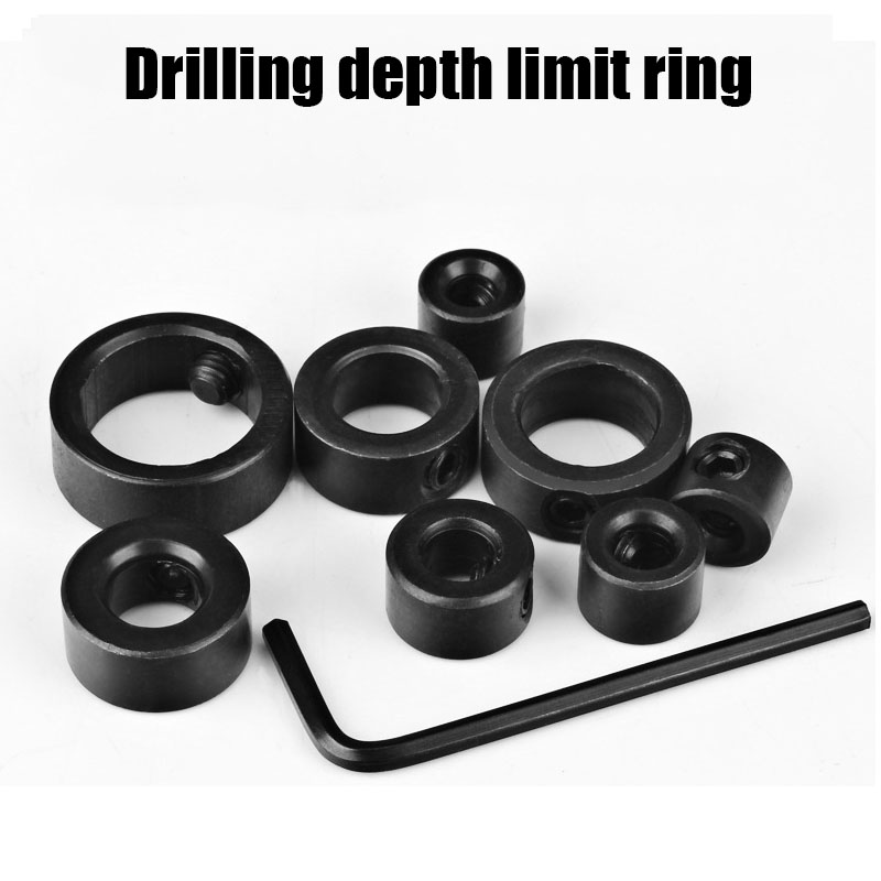 Bit Drill Limit Ring Woodworking Tools 3-16mm Drill Bits Depth Stop Collars Ring Positioner Drill Locator + Hex Wrench A41