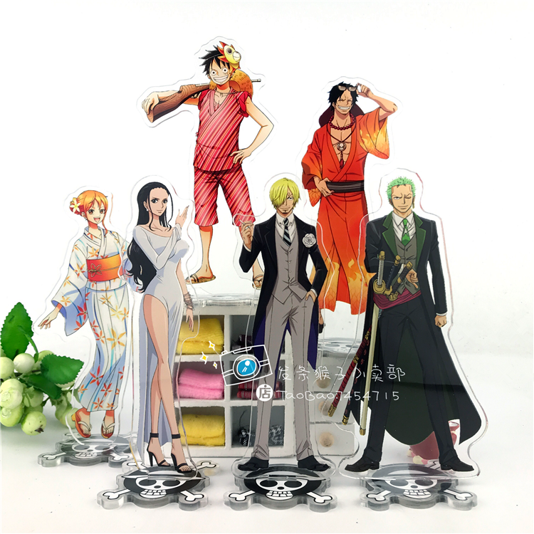 Anime ONE PIECE Luffy Roronoa Zoro Vinsmoke Sanji Nami Ace Cosplay Acrylic Stand Figure Desk Stand Figure Model Decorate 15cm