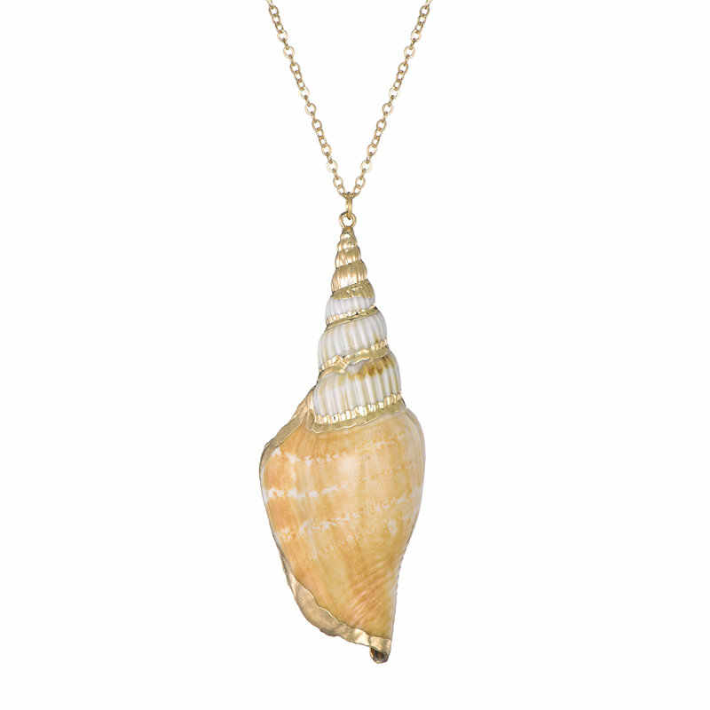 2019 Boho Seashell Necklace Gold Chain Necklace Women Choker Necklace Pendants Bohemian Jewelry Female