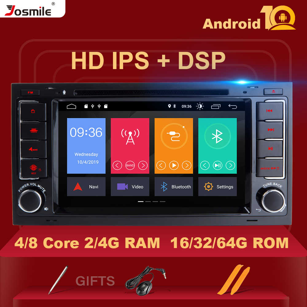 IPS DSP 8 Core 4GB 64GB 2 Din Android 10 reproductor de DVD para coche VW/Volkswagen/Touareg/Transporter T5 2004-2011 Multimedia GPS Radio