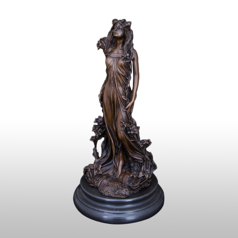 Modern Arts Very Beautiful Classical Lady Statue Bronze Sculpture Door to Holiday Gifts  STATUE SCULPTURECZS-016