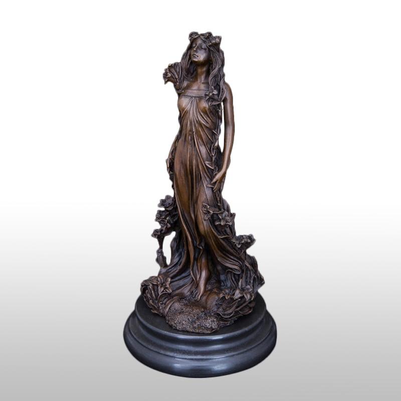 31CM Bronze Aphrodite Figurine Greek Goddess Of Love And Beauty Statue Sculpture Office Desk Home Art Decor