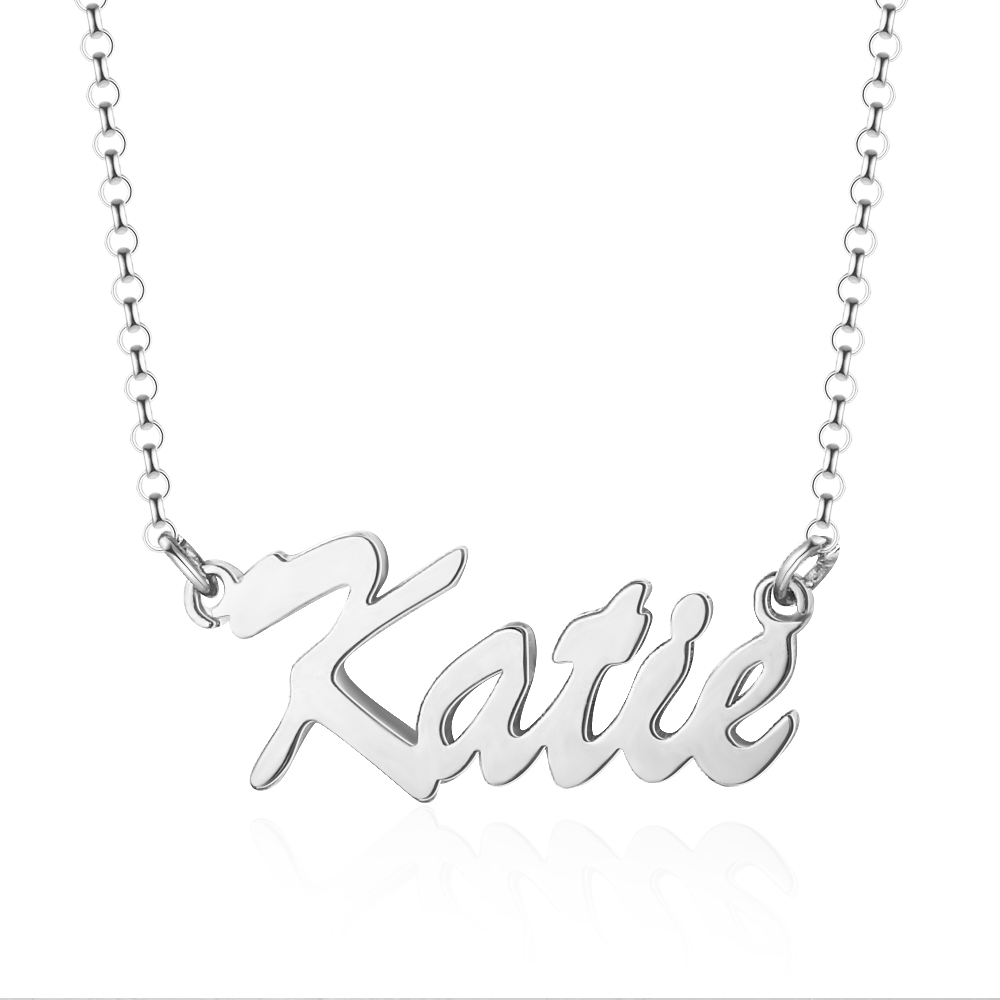 H8ee911bcac184f6ebbb836e8c004cd56z 925 Sterling Silver Personalized Nameplate Letter Necklace Custom Made Name Pendant Russian Name Christmas Gifts for Girlfriend