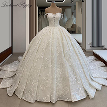 Wedding-Dresses Bridal-Gowns Beaded Lace Appliques Poppy-Off-The-Shoulder Sleeveless