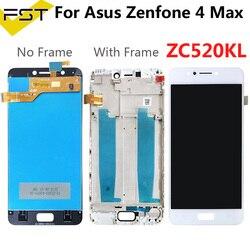 Tela lcd para asus zenfone 4 max zc520kl x00hd, display digitalizador de ecrã touch com tela de 5.2