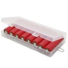 Novo 8x18650 bateria caso de plástico duro recipiente saco caso organizador caixa caso titular caixa de armazenamento capa para 18650 bateria