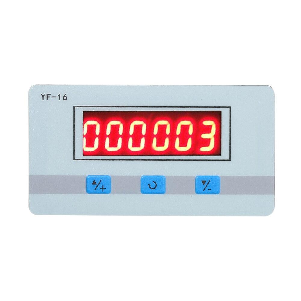 Цифровой мини-счетчик с ЖК-дисплеем, 5 В ~ 24 В переменного тока, электронный тотализатор с интерфейсом NPN и PNP сигнала, подсчет 1 ~ 999999 раз