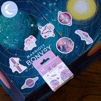 YUEGUANGXIA 50 Pcs/box Colorful Kawaii Japanese Cartoon Stickers Scrapbooking Bullet Journal Children Sticker Flakes 16 Designs