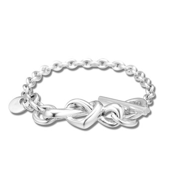 Knotted Heart Bracelets for Women Fashion 925 Sterling Silver Bracelets Jewelry Female Love Sign Signature Charms Bracelets фото