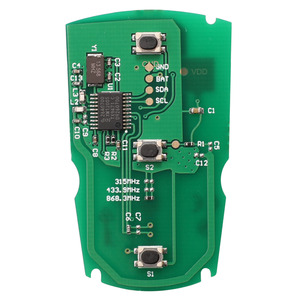 Image 2 - Jingyuqin 5 pces 315mhz/433/ 868mhzfor bmw 1/3/5/7 série cas3 sistema x5 x6 fob id46 pcf7953 chip placa de circuito chave do carro remoto