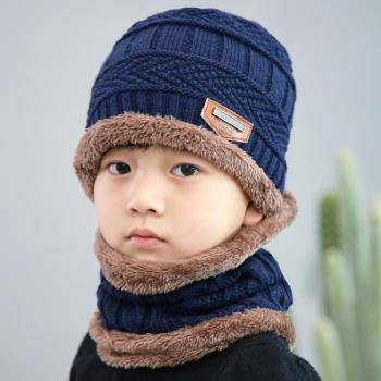 Kids Beanies Winter Hat And Scarf Set Winter Hats Scarf Set For Boy Knitted Hat Girl Neck Warmer Kids Winter Scarf