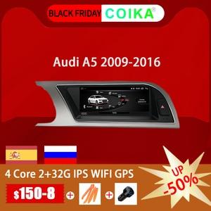 """Image 1 - Coika 8.8 """"rádio da tela de toque do carro do sistema de android 10.0 para audi a5 2009 2016 com 2 + 32g ram gps navi google carplay wifi swc dvr"""