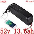 36 в 48 в 52 в 14 Ач батарея для электровелосипеда 52 в 13.6ач литиевая батарея для электровелосипеда LG для мотора bafang BBS02 BBS03 1000 Вт 750 Вт 500 Вт