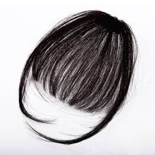 Bluelucky Wig Air Bangs Remy Hair Short Hairpieces For Women Hair Extension Clip In Front Hair Bangs 100% Human Hair