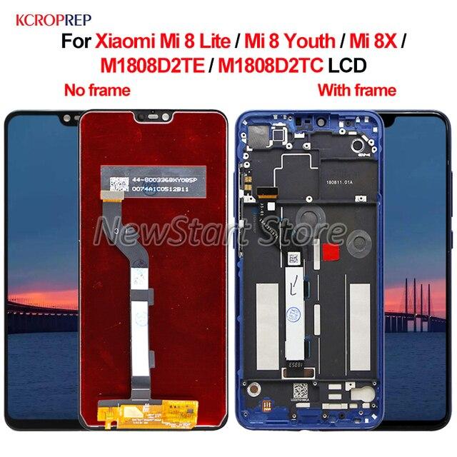 Dành cho Xiaomi Mi 8 Lite Mi 8 Thanh Niên Mi 8X MÀN HÌNH Hiển Thị LCD Bộ Số Hóa Cảm Ứng Dành Cho Xiaomi Mi8 Thanh Niên mi8 Lite M1808D2TE Màn hình LCD