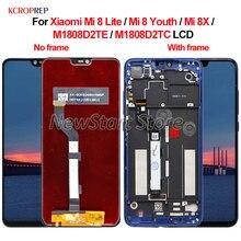 Xiaomi Mi 8 için Lite Mi 8 gençlik Mi 8X LCD ekran dokunmatik ekran Digitizer meclisi için Xiaomi Mi8 gençlik mi8 Lite M1808D2TE lcd