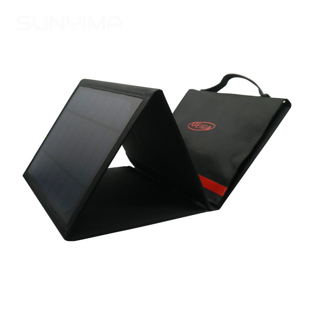 SUNYIMA 20 Вт 12 в зарядное устройство для солнечной панели, двойное USB 5 В DC складное солнечное зарядное устройство, монокристаллический силиконо