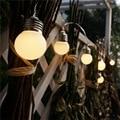 Светодиодная лампа со сферическим колпаком шнура светильник Батарея мяч светящиеся гирлянды светильник s Рождественская гирлянда Свадебн...