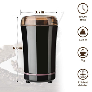 Image 5 - YAJIAO Coffee Machine Electric Grinder Bean Spice with Stainless Steel Blade Detachable Power for Coffee Beans Grounds Grains