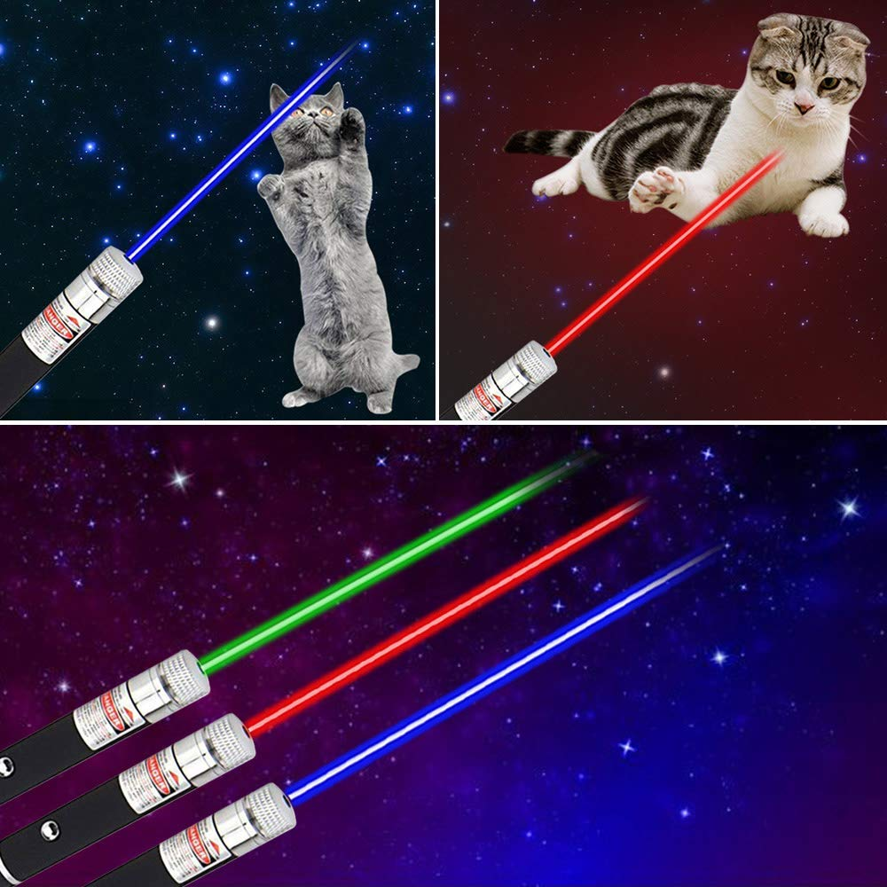 Cats Laser Sight Pointer Red Blue Green Laser Pointer Pen Pets Command Light Training Tools 5MW Laser Designator Hunting Sight