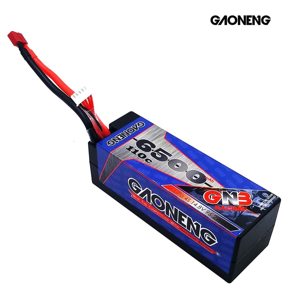 Gaoneng GNB 6500mAh 4S 14,8 V 110C/220C твердый корпус LiPo батарея T Разъем для RC HPI HSP 1/8 1/10 багги RC автомобиль Грузовик Рок Гусеничный - 2