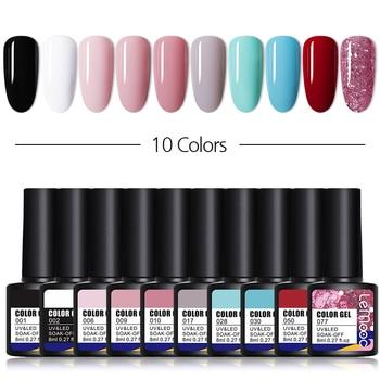 LEMOOC 10/20Pcs/set Color Gel Nail Polish Semi Permanent UV Led Gel Varnish Soak Off Nail Lacquers 116 Colors Base Top Coat недорого