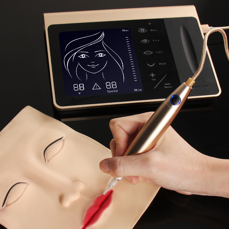 Full Touch Screen Permanent Makeup Machine Battery Microblading Eyebrow Embroidery Digital Tattoo Machine With Micro Needle