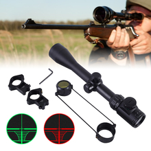 3-9x40 Hunting Scope Red Green Dot Sight Adjustable Riflescope Mounts Tactical m