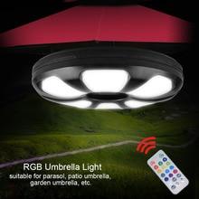 Мульти-функциональный патио Шест Для зонта свет дистанционного Управление перезаряжаемый RGB палатки для кемпинга на открытом воздухе сад Пеший Туризм