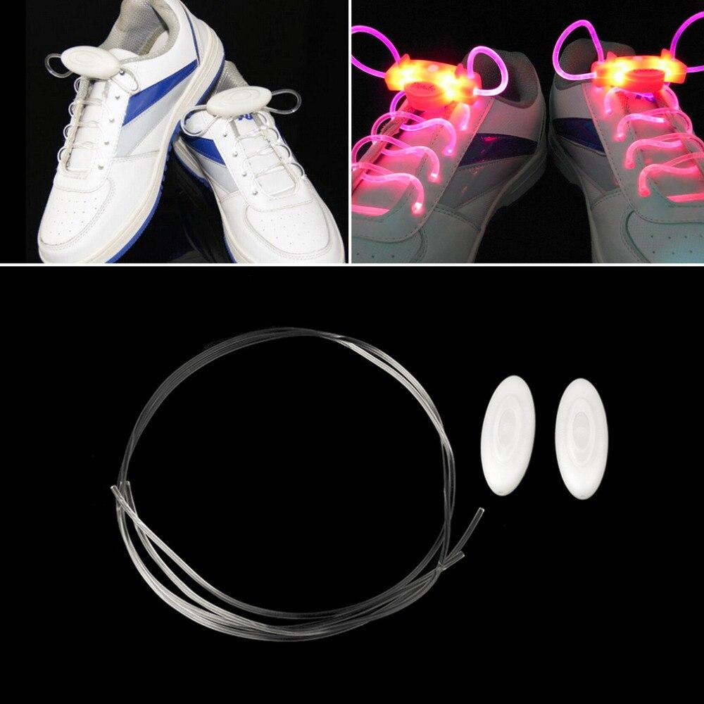 4 цвета светодиодный шнурки для спортивной обуви светильник вспышки светящиеся палки ремень Шнурки ДИСКО вечерние Клубные 2018 горячая