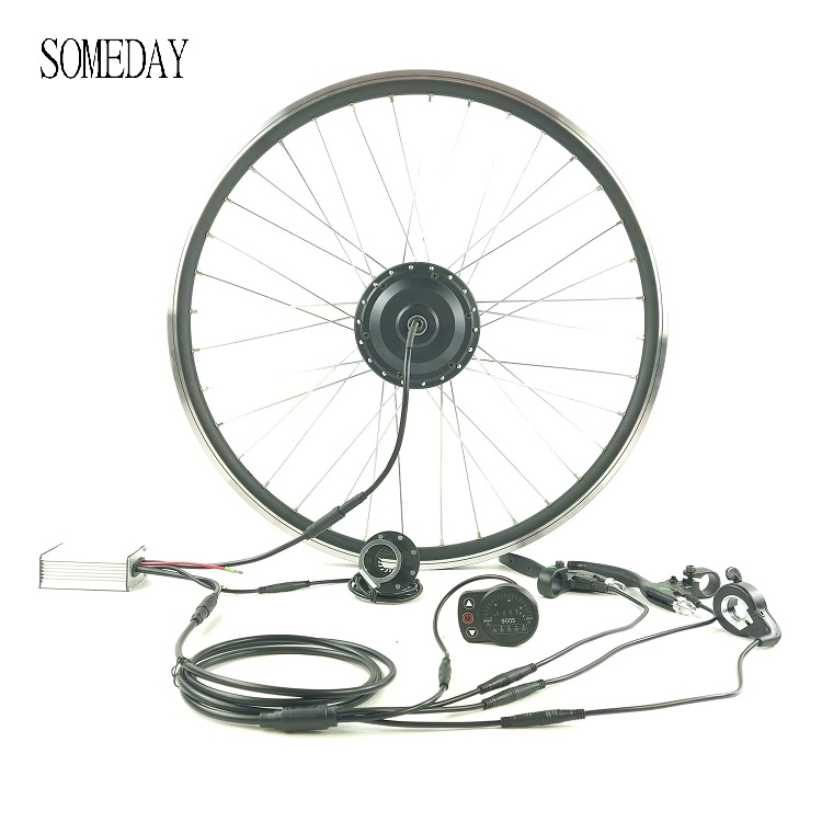 Dianteiro do Motor Dia à Prova Kit de Conversão Kits com Led900s Algum Dwaterproof Água 250 w 350 Bicicleta Elétrica Cubo Roda Ebike Display 36 v