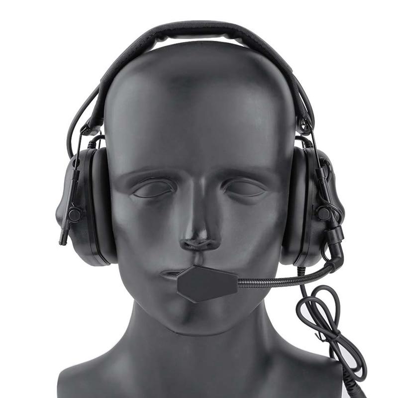 tatico fone de ouvido de cancelamento de ruido captador acessorios capacete fone de ouvido adaptador de
